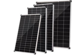 Acemor 12V 250W Flat Solar Panel Kit Mono Camping Caravan Boat Charging Power Battery