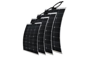 Acemor 250W Flexible Solar Panel 12V Caravan Camping Power Battery Mono Charging Kit
