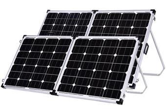 Acemor 200W Folding Solar Panel Kit 12V Mono Camping Caravan Charging Power Battery USB