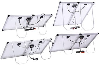 Acemor 300W Folding Solar Panel Kit 12V Mono Camping Caravan Boat Charging Power Battery Usb