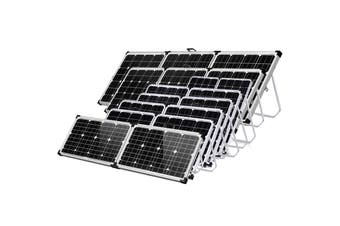 Acemor 300W Folding Solar Panel Kit 12V Mono Camping Caravan Boat Charging Power Battery Usb