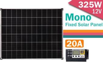 Acemor  12V 325W Solar Panel Kit Mono 20A Contoller 325 Watt Caravan Camping Charge USB