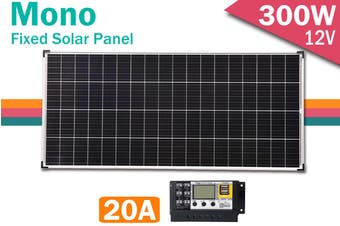 Acemor 12V 80W 160W 200W 250W 300W 350W Solar Panel Kit + 10A / 20A Controller Mono Power Camping Charge USB