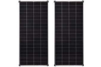 Acemor 2x 300W Solar Panel Kit 12V Mono Camping Caravan Boat Charging Power Battery 300 Watt