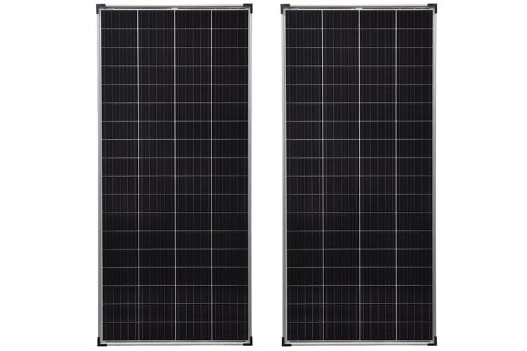 Dick Smith Acemor 2x 300w Solar Panel Kit 12v Mono Camping Caravan Boat Charging Power Battery 300 Watt Power Generator