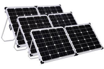 Acemor 12V 250W Folding Solar Panel Kit Mono Caravan Camping Power Charging Battery USB