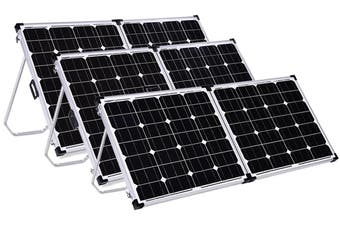 Acemor 12V 300W Folding Solar Panel Kit Mono Caravan Camping Power Charging Battery USB