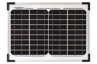 12V 10W Solar Panel Kit Caravan Camping Power Portable Battery Charging Ultralight Grade A Glass Monocrystalline