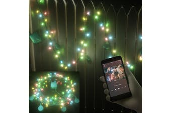 Stockholm Christmas LED Fairy String Light Play Music with Bluetooth Speakers Multi Colour