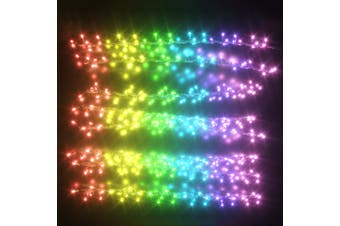 Stockholm Christmas String Lights 288 LEDs Curtain Fairy Multi Color Outdoor Garden 1.8M