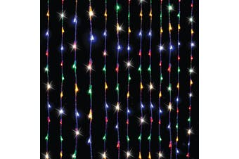 Stockholm Christmas Lights 480 LEDs Window Curtain Multi Color Xmas Outdoor Decor 3x2M