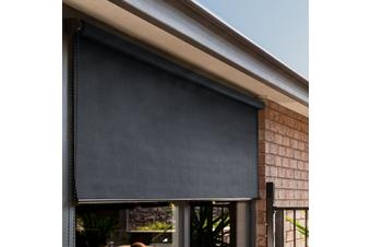 Heavy Duty Outdoor Sunscreen Roller Blind (Slate)