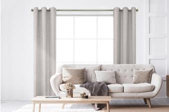 BAHA Henley Eyelet Room Darkening Curtain 2 PACK (Linen)