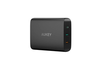 AUKEY 46W USB-C PD 3.0 QC USB Port Wall Charger Charging Station Power Adapter