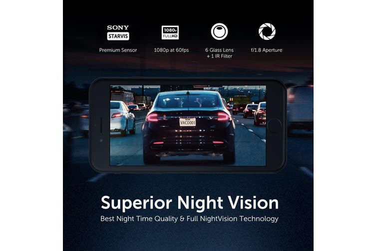 VAVA Dashboard Camera Recorder Full HD 1080P WiFi Car Dash Cam GPS Sony Sensor