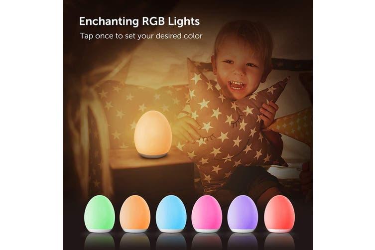 VAVA Night Lights for Kids Baby Light LED RGB Color Charging Bedside Table Lamp