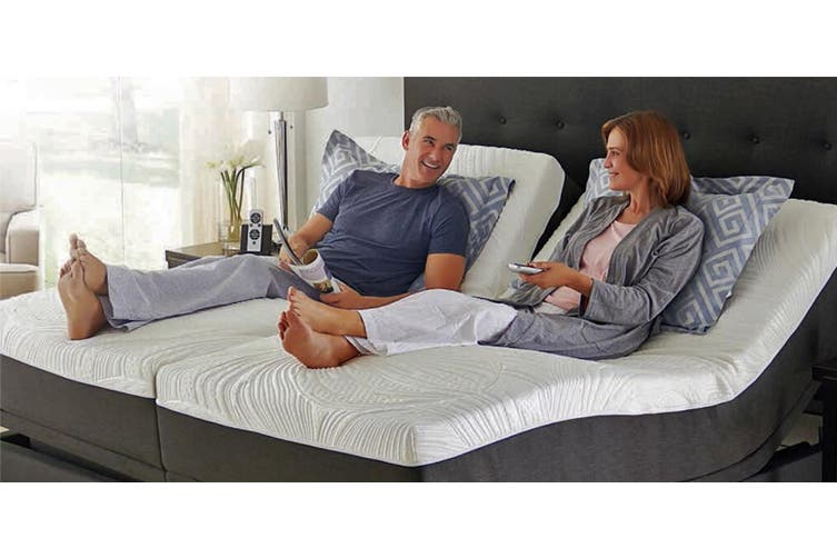 Split King & All Other Sizes Adjustable Bed with Mattress, Massage, Zero Gravity, Remote Control Long Single