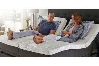Split King & All Other Sizes Adjustable Bed with Mattress, Massage, Zero Gravity, Remote Control Queen