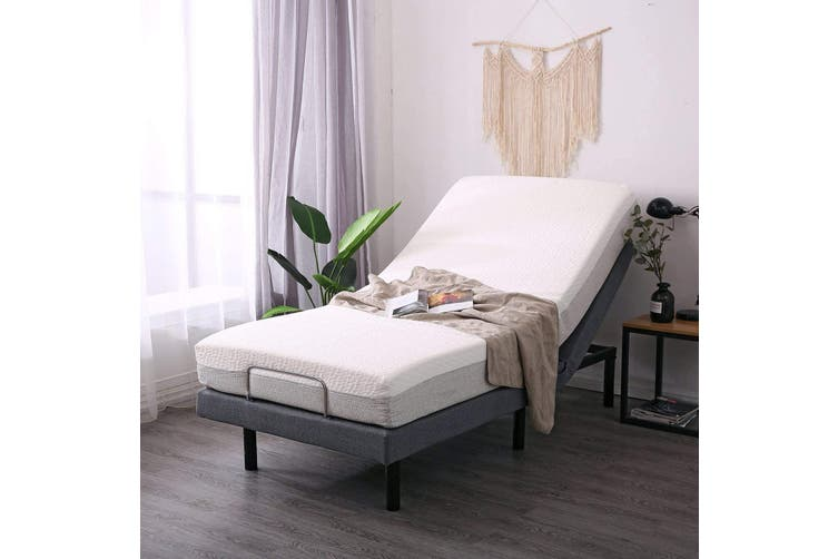 Medical Standard Adjustable Bed: with Copper Foam Mattress, Pain Relief for neck and back, Mobility aids, Carer friendly Long Single