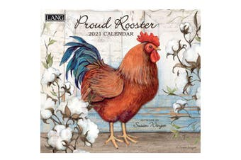 Lang 2021 Calendar PROUD ROOSTER Calender Fits Wall Frame