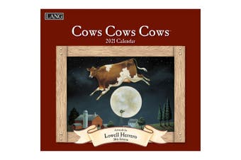 Lang 2021 Calendar COWS COWS COWS Calender Fits Wall Frame