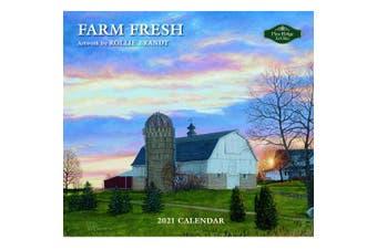 Pine Ridge 2021 Calendar FARM FRESH Calender Fits Lang Wall Frame