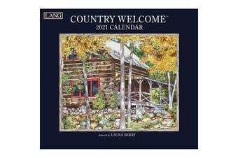 Lang 2021 Calendar COUNTRY WELCOME Calender Fits Wall Frame