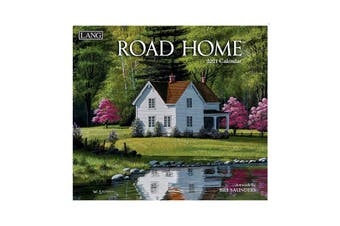 Lang 2021 Calendar ROAD HOME Calender Fits Wall Hanging Frame