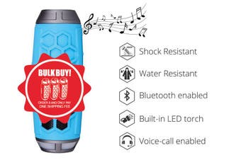 SONIQ Rock7 Portable Bluetooth Speaker- Blue ABTS200BL