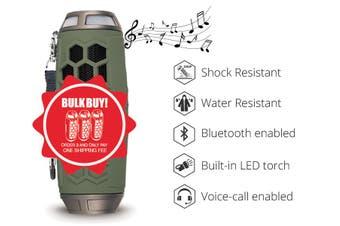 SONIQ Rock7 Portable Bluetooth Speaker- Green ABTS200GR