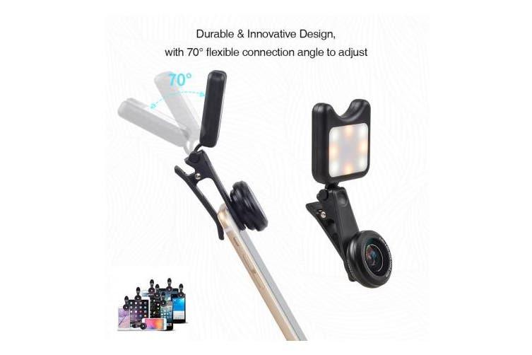 SONIQ Phone Lens & LED Fill Light With 9 Lighting Modes