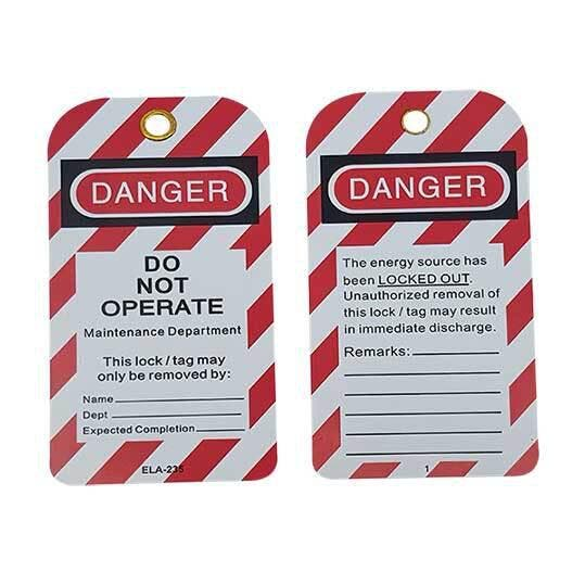 """Premium Lockout Tag - Danger Do Not Operate 