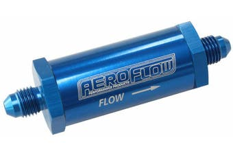 Aeroflow -4AN Inline Fuel & Oil Filter Blue 30 Micron Washable AF607-04