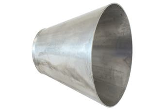 """Aeroflow 304 Transition Cone 2.5-5"""" Stainless Steel 4"""" Length AF9588-2550"""