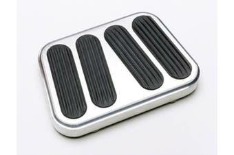 Lokar Brake/Clutch Pad Rubber Brushed Billet Aluminium 1967-1969 Camaro/Firebird
