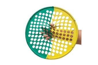 Cando Web Finger Flexion Extension & Wrist Exerciser - Yellow/Green (XX-Light / Medium)