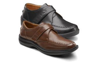 Dr Comfort Frank Men's Shoes Black - X-Wide 10.5