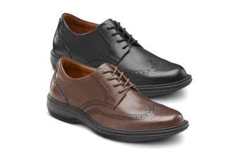 Dr Comfort Wing Men's Shoes Black - X-Wide 10.5