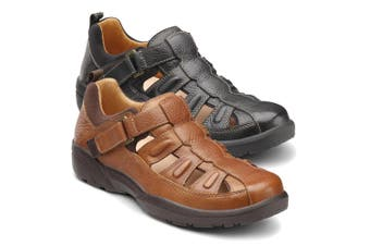 Dr Comfort Fisherman Men's Shoes Chestnut - Wide 10.5