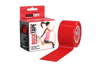 Rocktape Plain Rolls - 5m x 5cm - Red