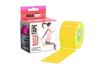 Rocktape Plain Rolls - 5m x 5cm - Yellow