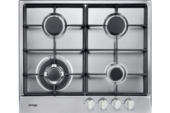 Omega OCG64X 60cm Gas Cooktop Stainless Steel