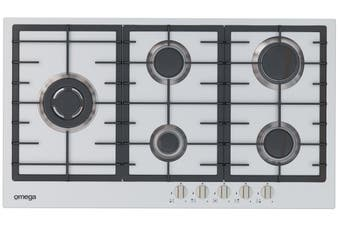 Omega OCG90FXB 90cm Gas Cooktop Stainless Steel