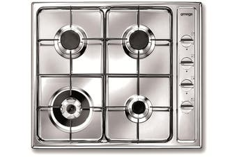 Omega 60cm Gas Cooktop OG62XA Stainless Steel
