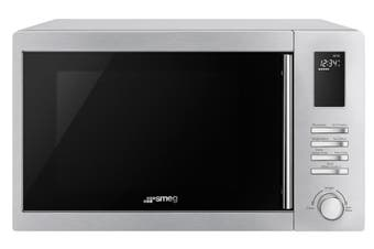 Smeg 1000W 34L Stainless Steel Microwave Oven SA34MX with 1100W Grill