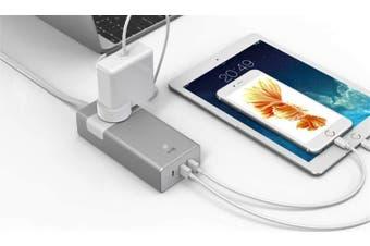 Aerocool ASA PT1A3U2 Aluminum PowerStrip w/ 1 Outlet, 1 TypeC 5V/3.0A , 2 USB 5/2.4A Charging Port