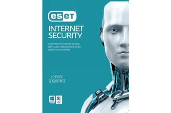 ESET Internet Security 1 Device 1 Year License via email