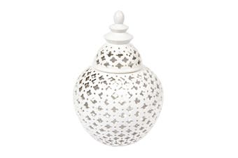 URBAN ECLECTICA Miccah Temple Jar - Medium White