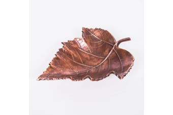MAPLE Small 24cm Long Decorative Leaf - Antique Copper