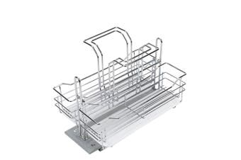 ELITE Pull-Out Undersink Detergent Organiser / Storage Caddy - Chrome